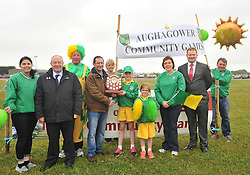 Gerry McGuinness Secretary Mayo Community Games, assisted by Minister for Tourism &amp; Sport Michael Ring TD, presented the award for Best Turned Out Area to Aughagower at the Mayo Community Games Finals in Claremorris on sunday.<br />