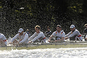 Putney. GREAT BRITAIN,  GER M8+ right to left,  Matthias FLACH. Ulf SIENES; Jan; TREBRUEGGE; Phillip STUEER; during the Cambridge University  vs German National Eight race,  raced over the Boat Race Course, on the River Thames, London, on Sat.  03.03.2007,  [Photo Peter Spurrier/Intersport Images]  [Mandatory Credit, Peter Spurier/ Intersport Images]. , Rowing Course: River Thames, Championship course, Putney to Mortlake 4.25 Miles, , Varsity Boat Race.