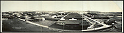 World War I Panoramas <br /> <br /> These long panoramic photographs show U. S. military personnel and camps, patriotic parades, and European battlefields and cemeteries related to WWI.<br /> <br /> PHOTO SHOWS: Base Hospital, Camp Dodge, Iowa, 1919<br /> ©Library of Congress/Exclusivepix Media