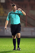 match referee Robert Whitton during the U23 Premier League match between U23 Brighton and Hove Albion and U23 West Bromwich Albion at the Checkatrade.com Stadium, Crawley, England on 19 December 2016.