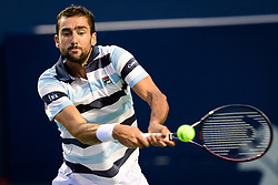 August 10, 2018 - Toronto, ON, U.S. - TORONTO, ON - AUGUST 10: Marin Cilic (CRO) returns the ball during his Quarter-Finals match of the Rogers Cup tennis tournament on August 10, 2018, at Aviva Centre in Toronto, ON, Canada. (Photograph by Julian Avram/Icon Sportswire) (Credit Image: © Julian Avram/Icon SMI via ZUMA Press)