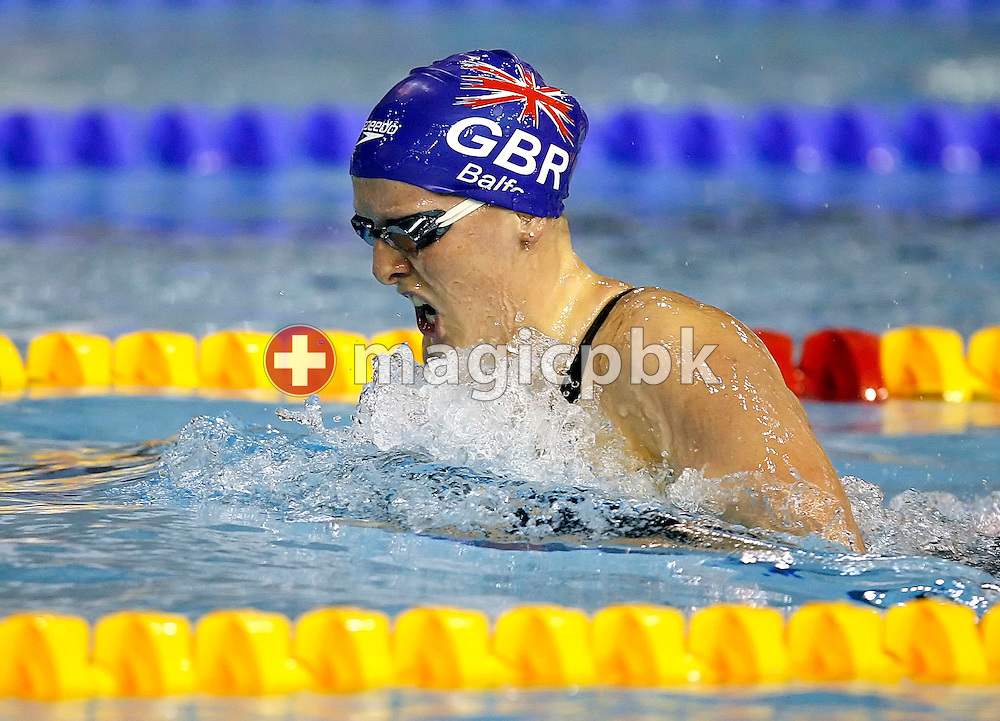 Kirsty BALFOUR of Great Britain competes in the women's 200m breaststroke final on day two at the European Short-Course Swimming Championships at the Maekelaenrinne Swimming Centre in Helsinki, Finland, Friday December 8, 2006. (Photo by Patrick B. Kraemer / MAGICPBK)