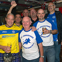 Rosenborg v St Johnstone....17.07.13  UEFA Europa League Qualifier.<br /> St Johnstone fans in Trondheim..Pictured from left Ricky Marshall, Tony Green jnr, Tony Green snr, Dave Watson, Stewart Morrison, Darren Watson and Jordan Robertson.<br /> Picture by Graeme Hart.<br /> Copyright Perthshire Picture Agency<br /> Tel: 01738 623350  Mobile: 07990 594431