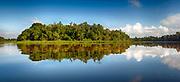 Danau Pitas (Oxbow Lake), a tributari to Kinabatangan River, Sabah, Borneo.