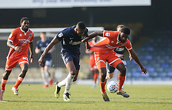 Emile Acquah of Southend United tussles with Ro-Shaun Williams of Shrewsbury Town - Mandatory by-line: Arron Gent/JMP - 30/03/2019 - FOOTBALL - Roots Hall - Southend-on-Sea, England - Southend United v Shrewsbury Town - Sky Bet League One
