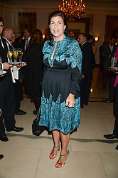 "KIRSTIE ALLSOPP at an ""Evening With Damon Hill'  a dinner and talk in aid of the Downs Syndrome Association held at Claridge's, Brook Street, London on 7th November 2013."