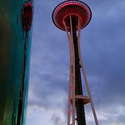 An evening at Seattle center - views galore
