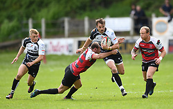 Pontypridd's Dale Stuckey<br /> Cross Keys v Pontypridd RFC<br /> <br /> Photographer Mike Jones / Replay Images<br /> Pandy Park, Cross Keys.<br /> Wales - 12th May 2018.<br /> <br /> Cross Keys v Pontypridd RFC<br /> Principality Premiership<br /> <br /> World Copyright © Replay Images . All rights reserved. info@replayimages.co.uk - http://replayimages.co.uk