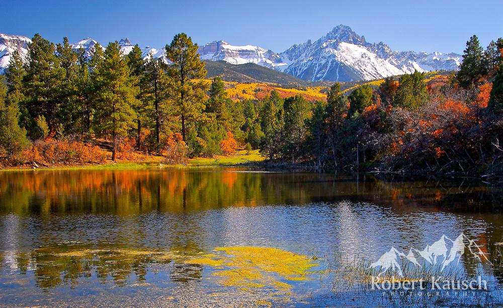 Beaver Pond and Mt. Sneffels.