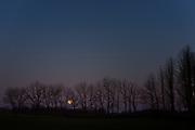 Moonset at Clarks's Farm in Howard County Maryland.