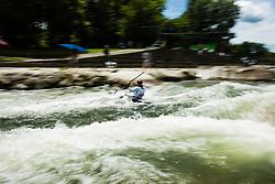 Urh Turnsek during the Kayak Single (C1) Men race of Tacen Cup 2020 on May 24, 2020 in Tacen, Ljubljana, Slovenia. Photo By Grega Valancic / Sportida