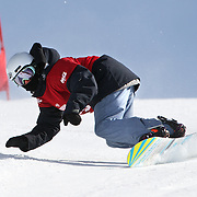Tim Herbert, New Zealand, in action during the Duel Giant Slalom event at the Snow Sports NZ Junior Freeski and Snowboard Nationals at Cardrona Alpine Resort, Wanaka,  New Zealand, 27th September 2011. Photo Tim Clayton...