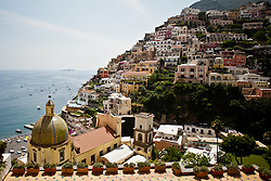 A view from above in Positano, Italy during a trip along the Amalfi Coast.