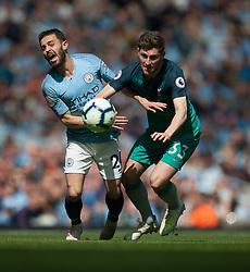Bernardo Silva of Manchester City (L) and Ben Davies of Tottenham Hotspur in action - Mandatory by-line: Jack Phillips/JMP - 20/04/2019 - FOOTBALL - Etihad Stadium - Manchester, England - Manchester City v Tottenham Hotspur - English Premier League