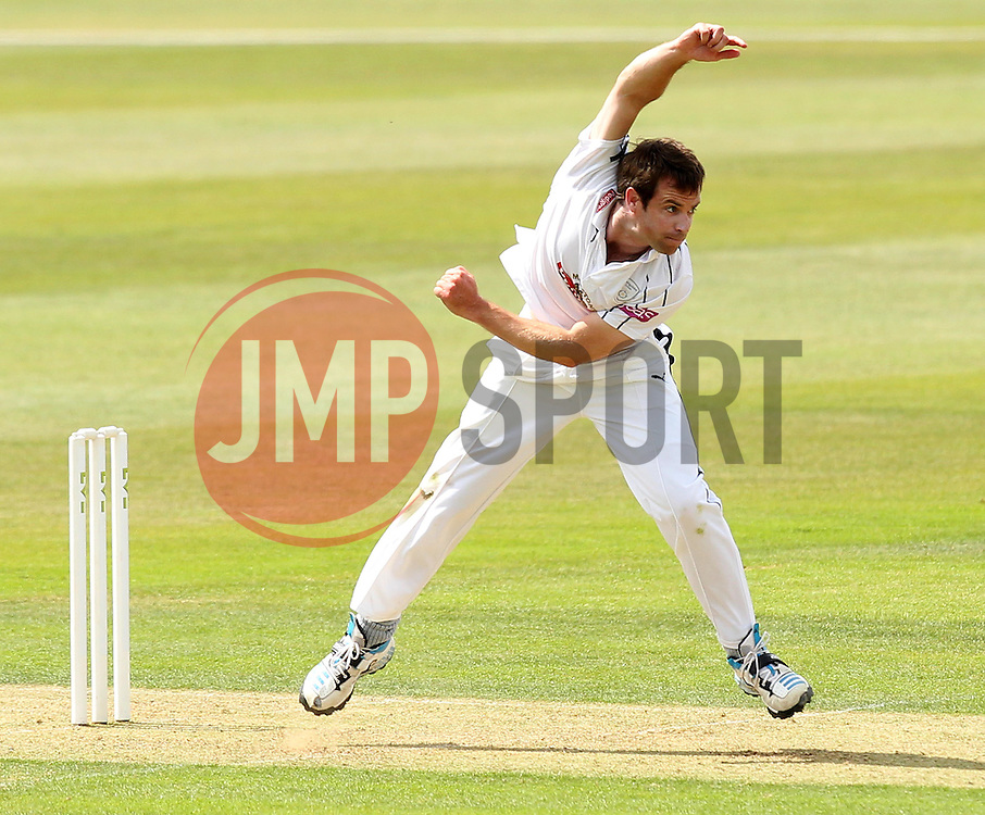 Hampshire's James Tomlinson bowls - Photo mandatory by-line: Robbie Stephenson/JMP - Mobile: 07966 386802 - 21/06/2015 - SPORT - Cricket - Southampton - The Ageas Bowl - Hampshire v Somerset - County Championship Division One