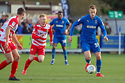 AFC Wimbledon striker Joe Pigott (39) dribbling during the EFL Sky Bet League 1 match between AFC Wimbledon and Doncaster Rovers at the Cherry Red Records Stadium, Kingston, England on 9 March 2019.