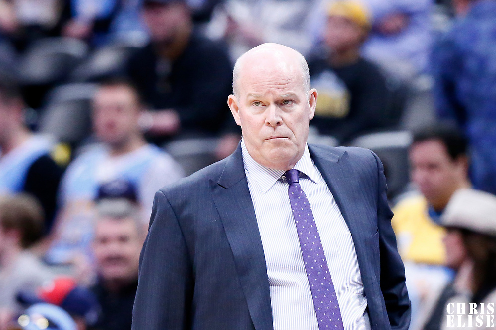 04 March 2017: Charlotte Hornets head coach Steve Clifford is seen during the Charlotte Hornets 112-102 victory over the Denver Nuggets, at the Pepsi Center, Denver, Colorado, USA.