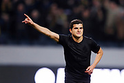 SOLNA, SWEDEN - MARCH 13: Tarik Elyounoussi of AIK celebrates after scoring to 1-0 during the Swedish Cup Quarterfinal between AIK and Orebro SK at Friends arena on March 13, 2018 in Solna, Sweden. Photo by Nils Petter Nilsson/Ombrello<br /> ***BETALBILD***