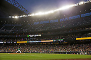 SEATTLE, WA- APRIL 24: Felix Hernandez #34 of the Seattle Mariners pitches against the Minnesota Twins on April 24, 2015 at Safeco Field in Seattle, Washington. The Mariners defeated the Twins 2-0. (Photo by Brace Hemmelgarn) *** Local Caption *** Felix Hernandez