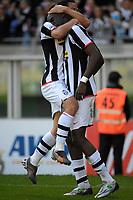 "Momo Sissoko (Juventus) celebrates scoring with Mauro Camoranesi<br /> <br /> TORINO 02-03-2008 Stadio ""Olimpico""<br /> <br /> Campionato Italiano Serie A<br /> <br /> JUVENTUS-FIORENTINA 2-3 <br /> <br /> Foto Massimo Insabato/Insidefoto"