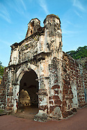 The Famous (A Famosa in Portuguese) is a Portuguese fortress located in Malacca, Malaysia. It is among the oldest surviving European architectural remains in Asia. The Porta de Santiago, a small gate house, is the only remaining part of the fortress still standing. In 1511, a Portuguese fleet arrived under the command of Afonso de Albuquerque. His forces attacked and defeated the armies of the Malacca Sultanate. Moving quickly to consolidate his gains, Albuquerque had the fortress built around a natural hill near the sea. Albuquerque believed that Malacca would become an important port linking Portugal to the Spice Route in China. At this time other Portuguese were establishing outposts in such places as Macau, China and Goa, India in order to create a string of friendly ports for ships heading to China and returning home to Portugal.