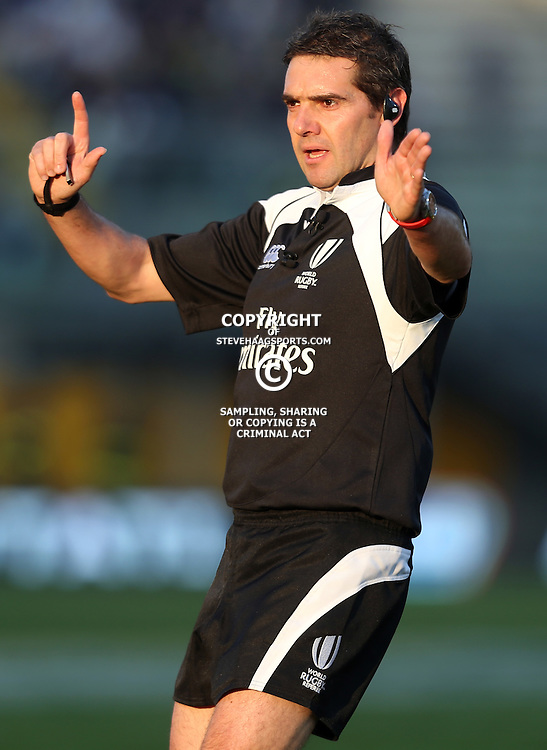 PADUA, ITALY - NOVEMBER 22: Referee: Jerome Garces (FFR) during the Castle Lager Outgoing Tour match between Italy and South African at Stadio Euganeo on November 22, 2014 in Padua, Italy. (Photo by Steve Haag/Gallo Images)