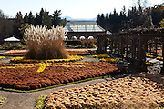 View of the walled gardens at the Biltmore Estate privately owned by the Vanderbilt family in Asheville, NC. The house is the largest private home in America with over 250 rooms.
