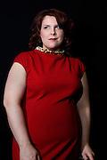 Canadian contralto Marie Nicole Lemieux posing at the Theatre des Champs Elysees on April 09, 2011 in Paris. Picture by Manuel Cohen