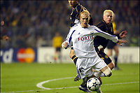 Fotball<br /> UEFA Champions League 2003/2004<br /> 21.10.2003<br /> Anderlecht v Celtic<br /> Foto: Digitalsport<br /> Norway Only<br /> <br /> <br /> BUXELLES BRUSSELS BRUSSEL 21/10/2003 FOOTBALL VOETBAL / UEFA CHAMPIONS LEAGUE : RSCA ANDERLECHT vs CELTIC GLASGOW FC /<br /> CHRISTIAN WILHELMSSON<br /> PICTURE : VINCENT KALUT - PHILIPPE CROCHET - JIMMY BOLCINA