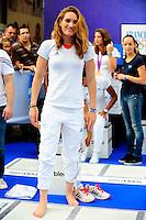 Camille MUFFAT - Descente des Champs Elysees en Bus  - Retour Equipe de France des JO - 13.08.2012 - Arrivee Equipe de France a Paris - Jeux Olympiques 2012 - Londres <br />Photo : Amandine Noel / Icon Sport *** Local Caption ***