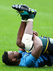 Durban. 170818. Siya Kolisi South Africa during the South African national rugby team captains run at Jonsson Kings Park in Durban, South Africa. Pucture Leon Lestrade. African News Agency/ANA