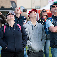 Picture by Christian Cooksey/CookseyPix.com on behalf of South Ayrshire Council.<br /> <br /> The Scottish Airshow, Low Green, Ayr, South Ayrshire.<br /> <br /> Spectators watch the amazing display by the Blades Aerobatic display team<br /> <br /> <br /> All rights reserved. For full terms and conditions see www.cookseypix.com