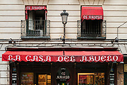 El Casa del Abuelo restaurant, Madrid, Spain.