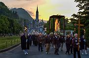 Catholics make the pilgrimage to Lourdes, Hautes-Pyrenees, France