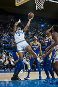 UCLA Bruins guard Jules Bernard (3) gets fouled against the San Jose State Spartans during an NCAA college basketball game, Sunday, Dec. 1, 2019, in Los Angeles. UCLA defeated San Jose State 93-64. (Jon Endow/Image of Sport)