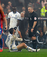 Football - 2016 / 2017 Premier League - Crystal Palace vs. Chelsea<br /> <br /> Diego Costa of Chelsea complains to Referee J Moss at Selhurst Park.<br /> <br /> COLORSPORT/ANDREW COWIE