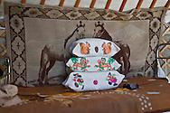 Mongolia. inside the yurt of a family of cattle breeder and horse  in   Hundlun bulag  -   /  interieur de yourte , famille d eleveurs de chevaux, a    HUNDLUN bulag  - Mongolie