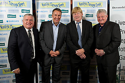 LIVERPOOL, ENGLAND - Friday, May 20, 2011: Ronnie Goodlass, Paul Merson, xxxx and Sean Styles at the Health Through Sport charity dinner at the Devonshire House. (Photo by David Rawcliffe/Propaganda)
