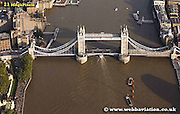 aerial photograph of  the Tower Bridge London England UK