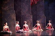 The Nutcracker <br /> choreography by Sir Peter Wright <br /> at the <br /> Birmingham Royal Ballet <br /> Birmingham Hippodrome, Great Britain <br /> 24th November 2017 <br /> <br /> Corps de ballet wait at the side of the stage as they watch the principal take their turn to dance. <br /> <br /> Photograph by Elliott Franks <br /> Image licensed to Elliott Franks Photography Services