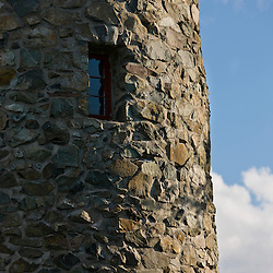 The stone fire tower at the John Wingate Weeks State Historic Site.  Lancaster, New Hampshire.
