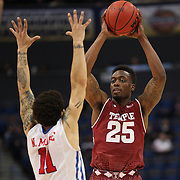 Quenton DeCosey, Temple, in action during the Temple Vs SMU Semi Final game at the American Athletic Conference Men's College Basketball Championships 2015 at the XL Center, Hartford, Connecticut, USA. 14th March 2015. Photo Tim Clayton