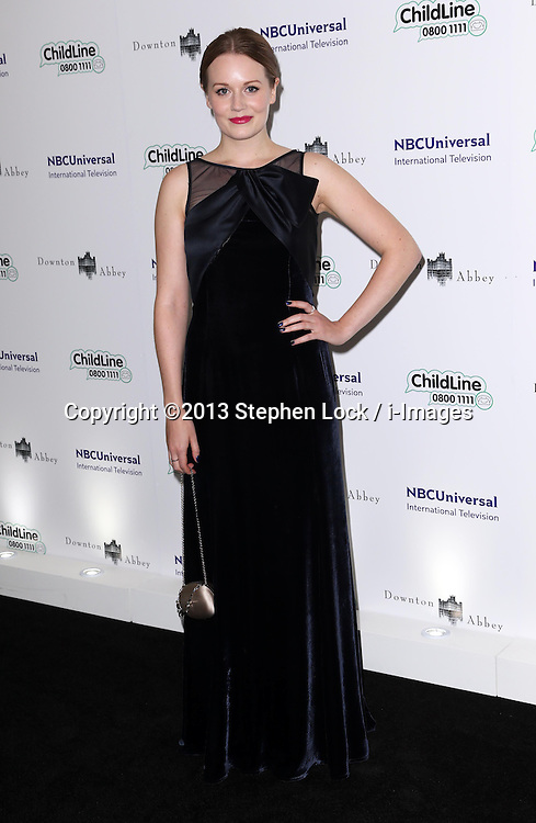 Cara Theobold arriving at the Downton Abbey ChildLine Ball in London, Thursday, 24th October 2013. Picture by Stephen Lock / i-Images