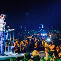 Nederland, Amsterdam, 9 maart 2017.<br />Jesse Klaver, partijleider GroenLinks tijdens zijn speech Groen Links meeting in de Heineken Music Hal.<br /><br /><br /><br />Foto: Jean-Pierre Jans