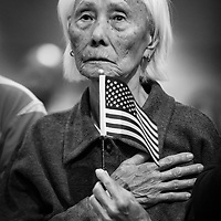 Hong Inh, 103 year old Cambodian immigrant, became a US citizen on August 22, 2017.
