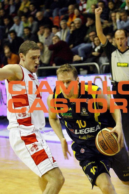 DESCRIZIONE : Milano Lega A1 2007-08 Armani Jeans Milano Legea Scafati<br /> GIOCATORE : Dimitri Lauwers<br /> SQUADRA : Legea Scafati<br /> EVENTO : Campionato Lega A1 2007-2008<br /> GARA : Armani Jeans Milano Legea Scafati<br /> DATA : 22/12/2007<br /> CATEGORIA : Palleggio<br /> SPORT : Pallacanestro<br /> AUTORE : Agenzia Ciamillo-Castoria/S.Ceretti
