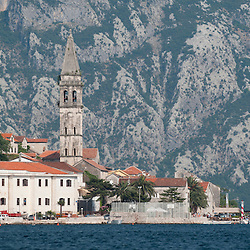 Montenegro, Tivat, Bay of Kotor July 2012<br /> <br /> In the bay of Kotor, along the coat Sveti Stefan there are two islands St. George Islands and the lady on the rocks.