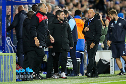 Bristol City manager Lee Johnson looks frustrated after Queens Park Rangers score to make it 1-0 - Rogan Thomson/JMP - 18/10/2016 - FOOTBALL - Loftus Road Stadium - London, England - Queens Park Rangers v Bristol City - Sky Bet EFL Championship.