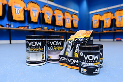 A general view of VOW products in the Wasps changing room at Madejski Stadium prior to kick off  - Mandatory by-line: Ryan Hiscott/JMP - 01/03/2020 - RUGBY - Madejski Stadium - Reading, England - London Irish v Wasps - Gallagher Premiership Rugby