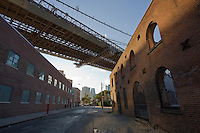 Brooklyn Bridge in Brooklyn New York October 2008
